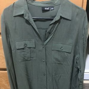 A.N.A. Olive Green Blouse